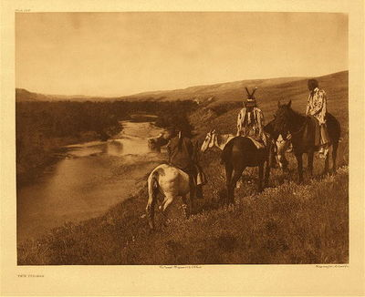 Title:      Plate 184 The Piegan , Date: 1910 , Size: 18 x 22 inches , Medium: Vintage Photogravure