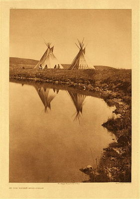 Title:      Plate 195 At the Waters Edge , Date: 1910 , Size: 22 x 18 inches , Medium: Vintage Photogravure