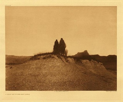 Title: Plate 086 A Gray Day in the Bad Lands , Date: 1905 , Size: Portfolio, 18 x 22 inches , Medium: Vintage Photogravure , Edition: Vintage