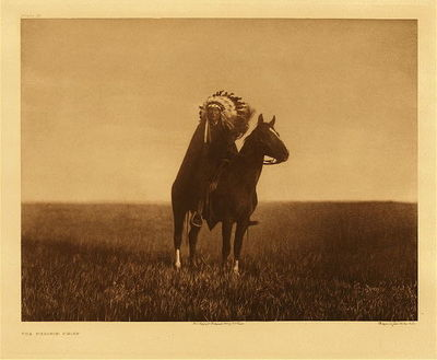 Title: Plate 088 The Prairie Chief , Date: 1907 , Size: Portfolio, 18 x 22 inches , Medium: Vintage Photogravure , Edition: Vintage