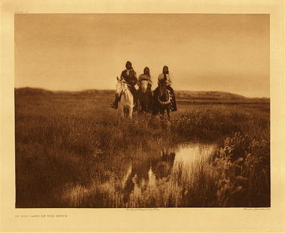 Title: Plate 095 In the Land of the Sioux , Date: 1905 , Size: Portfolio, 18 x 22 inches , Medium: Vintage Photogravure , Edition: Vintage