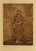 Title: Apsaroke Woman , Date: 1908 , Size: Volume, 12.5 x 9.5 inches , Medium: Vintage Photogravure , Edition: Vintage