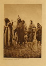 Title: Tobacco Ceremony - Apsaroke , Date: 1908 , Size: Volume, 12.5 x 9.5 inches , Medium: Vintage Photogravure , Edition: Vintage