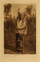 Title: Long Time Dog - Hidatsa , Date: 1908 , Size: Volume, 12.5 x 9.5 inches , Medium: Vintage Photogravure , Edition: Vintage