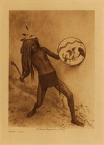 Title: Sia War Dancer , Date: 1926 , Size: Volume, 12.5 x 9.5 inches , Medium: Vintage Photogravure , Edition: Vintage