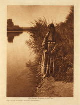 Title: On Little Powder River - Arapaho , Date: 1911 , Size: Volume, 12.5x9.5 inches , Medium: Vintage Photogravure , Edition: Vintage