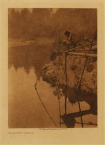 Title: Fishing from a Platform , Date: 1923 , Size: Volume, 12.5 x 9.5 inches , Medium: Vintage Photogravure , Edition: Vintage