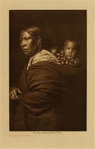 Title: Mother and Child, Apsaroke , Date: 1905 , Size: Volume, 12.5 x 9.5 inches , Medium: Vintage Photogravure , Edition: Vintage