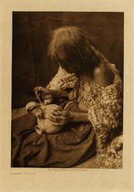 Title: Mohave Potter , Date: 1907 , Size: Volume, 12.5 x 9.5 inches , Medium: Vintage Photogravure , Edition: Vintage
