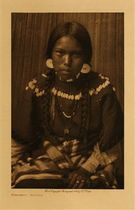 Title: Kalispel Maiden , Date: 1910 , Size: Volume, 12.5 x 9.5 inches , Medium: Vintage Photogravure , Edition: Vintage