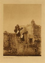 Title: On a Walpi Housetop , Date: 1921 , Size: Volume, 12.5 x 9.5 inches , Medium: Vintage Photogravure , Edition: Vintage