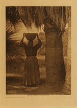 Title: The Harvester - Cahuilla , Date: 1924 , Size: Volume, 12.5 x 9.5 inches , Medium: Vintage Photogravure , Edition: Vintage