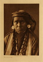 Title: Nez Perce Girl , Date: 1910 , Size: Volume, 12.5 x 9.5 inches , Medium: Vintage Photogravure , Edition: Vintage