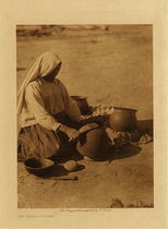 Title: The Papago Potter , Date: 1907 , Size: Volume, 12.5 x 9.5 inches , Medium: Vintage Photogravure , Edition: Vintage