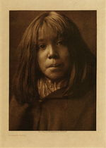 Title: Mohave Child , Date: 1907 , Size: Volume, 12.5 x 9.5 inches , Medium: Vintage Photogravure , Edition: Vintage