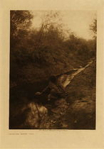 Title: Maricopa Water Girl , Date: 1907 , Size: Volume, 12.5 x 9.5 inches , Medium: Vintage Photogravure , Edition: Vintage