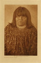 Title: An Apache - Mohave Woman , Date: 1907 , Size: Volume, 12.5 x 9.5 inches , Medium: Vintage Photogravure , Edition: Vintage