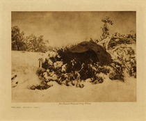 Title: Walapai Winter Camp , Date: 1907 , Size: Volume, 9.5 x 12.5 inches , Medium: Vintage Photogravure , Edition: Vintage
