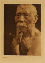 Title: Hupa Man , Date: 1923 , Size: Volume, 12.5 x 9.5 inches , Medium: Vintage Photogravure , Edition: Vintage