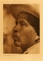 Title: A Southern Miwok - Profile , Date: 1924 , Size: Volume, 12.5 x 9.5 inches , Medium: Vintage Photogravure , Edition: Vintage