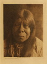 Title: A Chukchansi Yokuts Woman , Date: 1924 , Size: Volume, 12.5 x 9.5 inches , Medium: Vintage Photogravure , Edition: Vintage