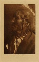 Title: No Flesh - Ogalala , Date: 1907 , Size: Volume, 9.5 x 12.5 inches , Medium: Vintage Photogravure , Edition: Vintage