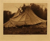 Title: A Holiday Lodge - Yakima , Date: 1910 , Size: Volume, 9.5 x 12.5 inches , Medium: Vintage Photogravure , Edition: Vintage