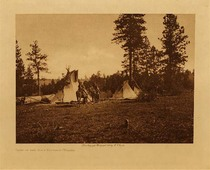 Title: Camp of the Root Diggers - Yakima , Date: 1909 , Size: Volume, 9.5 x 12.5 inches , Medium: Vintage Photogravure , Edition: Vintage