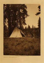 Title: Author's Temporary Camp , Date: 1910 , Size: Volume,12.5 x 9.5 inches , Medium: Vintage Photogravure , Edition: Vintage
