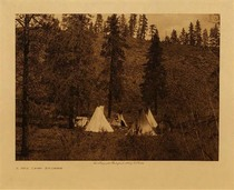 Title: A Hill Camp - Spokan , Date: 1910 , Size: Volume, 9.5 x 12.5 inches , Medium: Vintage Photogravure , Edition: Vintage