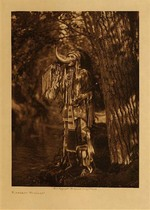 Title: Flathead Warrior , Date: 1910 , Size: Volume, 12.5 x 9.5 inches , Medium: Vintage Photogravure , Edition: Vintage
