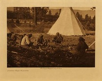 Title: Jerking Meat - Flathead , Date: 1910 , Size: Volume, 9.5 x 12.5 inches , Medium: Vintage Photogravure , Edition: Vintage