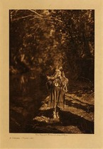 Title: A Drink - Flathead , Date: 1910 , Size: Volume, 12.5 x 9.5 inches , Medium: Vintage Photogravure , Edition: Vintage