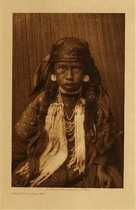 Title: Young Kalispel Girl , Date: 1910 , Size: Volume, 12.5 x 9.5 inches , Medium: Vintage Photogravure , Edition: Vintage