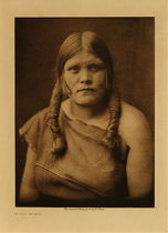 Title: A Hopi Woman , Date: 1905 , Size: Volume, 12.5 x 9.5 inches , Medium: Vintage Photogravure , Edition: Vintage