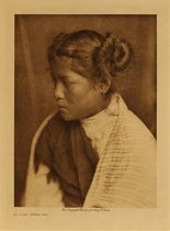 Title: An East Mesa Girl , Date: 1904 , Size: Volume, 12.5 x 9.5 inches , Medium: Vintage Photogravure , Edition: Vintage
