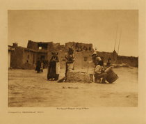 Title: Sumaikuli Katsina At Hano , Date: 1921 , Size: Volume, 9.5 x 12.5 inches , Medium: Vintage Photogravure , Edition: Vintage