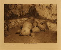 Title: Snake Jars in the Kiva , Size: Volume, 9.5 x 12.5 inches , Medium: Vintage Photogravure , Edition: Vintage