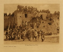 Title: Buffalo Dance at Hano , Date: 1904 , Size: Volume, 9.5 x 12.5 inches , Medium: Vintage Photogravure , Signed: Unsigned , Edition: Vintage