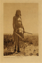 Title: Sikyaletstiwa - Shipaulovi Snake Chief , Date: 1907 , Size: Volume, 12.5 x 9.5 inches , Medium: Vintage Photogravure , Signed: Unsigned , Edition: Vintage