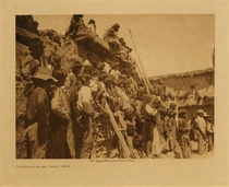 Title: Spectators at the Snake Dance , Date: 1905 , Size: Volume, 9.5 x 12.5 inches , Medium: Vintage Photogravure , Signed: Unsigned , Edition: Vintage