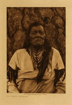 Title: Not Indian - Flathead , Date: 1910 , Size: Volume, 12.5 x 9.5 inches , Medium: Vintage Photogravure , Signed: Unsigned , Edition: Vintage