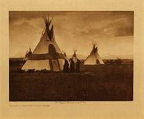 Title: Return to Faster's Lodge - Piegan , Date: 1905 , Size: Volume, 9.5 x 12.5 inches , Medium: Vintage Photogravure , Edition: Vintage