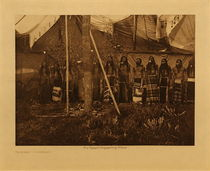 Title: Dancing - Cheyenne , Date: 1911 , Size: Volume, 12.5 x 9.5 inches , Medium: Vintage Photogravure , Edition: Vintage