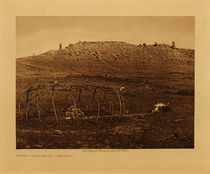 Title: Sweat Lodge Frame - Cheyenne , Date: 1910 , Size: Volume, 9.5 x 12.5 inches , Medium: Vintage Photogravure , Edition: Vintage