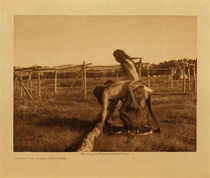 Title: Painting the Poles - Cheyenne , Date: 1910 , Size: Volume, 9.5 x 12.5 inches , Medium: Vintage Photogravure , Edition: Vintage
