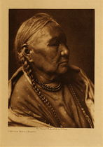 Title: Cheyenne Female Profile , Date: 1910 , Size: Volume, 12.5 x 9.5 inches , Medium: Vintage Photogravure , Edition: Vintage