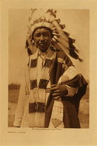 Title: Arapaho Youth , Date: 1910 , Size: Volume, 12.5 x 9.5 inches , Medium: Vintage Photogravure , Edition: Vintage