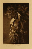 Title: Ready For Okipe Buffalo Dance - Mandan , Date: 1908 , Size: Volume, 12.5 x 9.5 inches , Medium: Vintage Photogravure , Edition: Vintage
