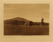 Title: Arikara Medicine Lodge , Date: 1908 , Size: Volume, 9.5 x 12.5 inches , Medium: Vintage Photogravure , Edition: Vintage